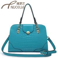 Women's handbag 2013 cowhide crocodile pattern embossed bag laptop messenger bag