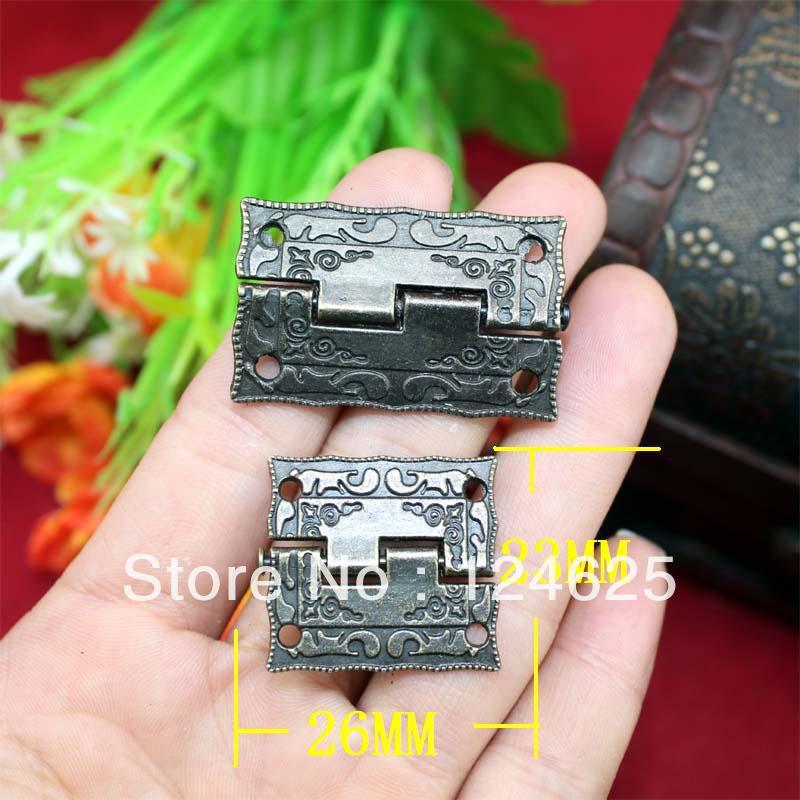 Free shipping 30pcs 1 inch wooden box hinge printed patterns hinge Antique zinc alloy hinge 26 * 23MM(China (Mainland))