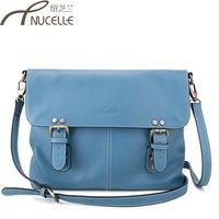 2013 women's genuine leather handbag vintage messenger bag canvas bag one shoulder bag leather messenger bag