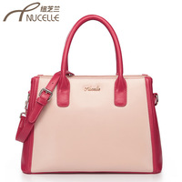 Women's handbag sweet gentlewomen 2013 color block leather bag handbag cross-body dual-use package