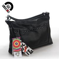 Draconite Women rivets bag one shoulder male messenger bag school bag motorcycle bag 63