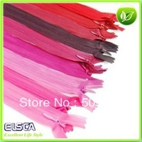 Wholesale 50pcs/lot nylon zipper 25cm closed end Mixed color easy for pants skirt and other DIY clothe accessories free shipping