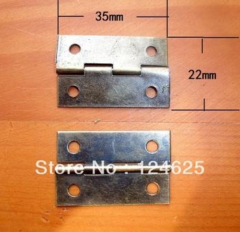 Free Shipping 50Pcs Mini 1.5inch Wooden wine box Drawer Butt Hinge 35*22mm Antique Bronze small hinge