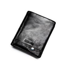 Free Shipping Sammons  short design Male  Genuine Leather Wallet Card Holder Suit Folder Wallet Male Cowhide Casual Wallet