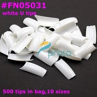 [AA404] 500 Pcs/bag Half Cover White French Nail Art  tips False Nail Tips,Fingernails,Acrylic Nail Fake nails,New 2014