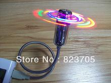 Гибкая USB мини-вентилятор электрические вентиляторы с красочными из светодиодов фары для портативных компьютеров