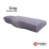 free shipping 60x33x11cm 100% memory foam as seen on tv new products foam posits pillow orthopedic (gray bamboo charcoal cover)