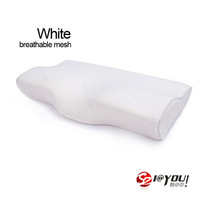 free shipping 60x33x11cm 100% memory foam aliexpress as seen on tv 2013 orthopedic pillow (white bamboo fiber cover)