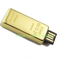 2GB 4GB 8GB 16GB 32GB Gold Bar USB Stick Novelty Bullion Flash Drive 2.0 Gift