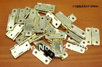 Free shipping 50Pcs Mini Cabinet Drawer Butt Hinge 8 hinge 24*20mm copper gold small hinge