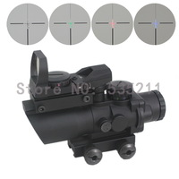 ACOG 4X32++red sights 20mm weaver rail for hunting Scope Illuminated Red Green Blue Reticle  sport free shipping