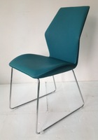 Modern PU leather dining chair with simple foot