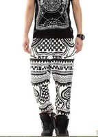 2013 autumn and winter new arrival ktz plaid geometry letter print loose lovers casual trousers health pants