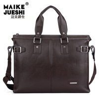 New Arrival man business handbags fashion leather shoulder bag for male messenger bag laptop bag briefcase vertical fashion bag