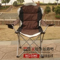 Outdoor thickening portable folding chair beach chair backrest chair fishing chair director chair lounged