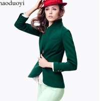 Fashion Women's Solid Color long Sleeve Single Breasted Slim Cool Blazer Suit Ladies Blazers