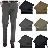 2014  new brand causal slim pants man Korean Straight 100% cotton fashion Trousers