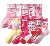 100% laciness cotton children socks princess socks all-match kid's socks children socks