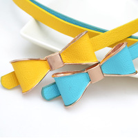 Best Selling!Lady's Slender waist belt candy color bowknot belt women thin belts 10pcs/lot free shipping