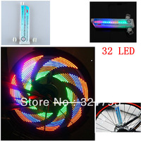 Free shipping,32 LED firefly bicycle wheel lights