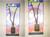 Anime necklace bronze color double faced sculpture metal five-pointed star long necklace