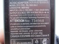 20V 4.5A FOR LENOVO 36001942 36001943 4334-5JU 4334-7PU 4334-7QU 4334-7UU CPA-A065 CPA-A090 notebook adapter