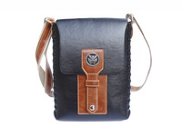 Fashion male quality business casual one shoulder cross-body knitted punk trend of the messenger bag lovers gift