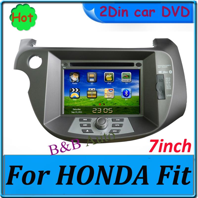 Voiture Radio pour Honda Fit voiture GPS DVD 7 '' lecteur DVD de voiture avec IPOD GPS Bluetooth CE / FCC / ROHS certifié(China (Mainland))