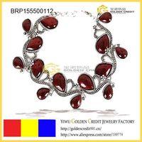 free shipping Antique gemstone bracelet,Fashion alloy chain gemstone bracelet