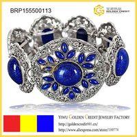 free shipping fashion blue gemstone bracelet