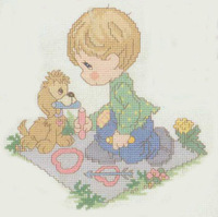 Dmc spiraea cross stitch kit h151 drop doll print