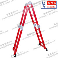 Aluminum alloy folding ladder household ladder stair 3.7 meters straight ladder engineering ladder ladders aluminum ladder