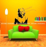 Marilyn monroe decoration wall stickers ktv glass stickers