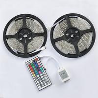 10m 2rolls RGB 3528 SMD Flexible Waterproof 60LEDs/m Strip Light + 44 key IR Remote Control !!  Free shipping!!!