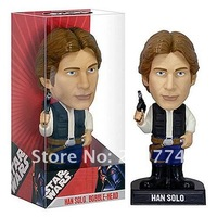 Free Shipping FUNKO WACKY WOBBLER STAR WARS Han Solo BOBBLE HEAD FIGURE