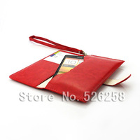 Multi-function korean style Generic Leather purse Case for HTC ONE SU T528W free Shipping