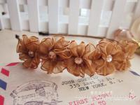 Handmade ribbon flower flowers hair accessory accessories rims headband hair bands hair pin 29