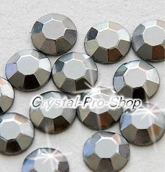 1440 pieces Grey 3mm 10ss ss10 Faceted Hotfix Rhinestuds Iron On Round Beads new Aluminum Metal Design Art DIY (u3m-Grey-10 gr)