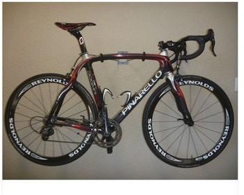 Pinarello Dogma 60.1 Racing Bike Black Red Size 56 Campagnolo Reynolds Wheels