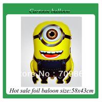 Hot sale! New Despicable Me Minions foil helium balloons cartoon balloon balloon free shipping