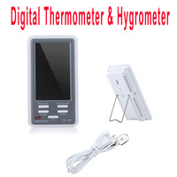 Digital Thermometer Hygrometer Temperature Humidity Meter Alarm Clock LCD Screen  wholesale