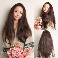 Free shipping Wig half wigs long curly hair female waves bulkness bohemia