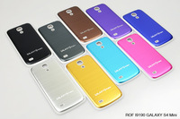 Wholesale Samsung s4 mini i9190  case mobile phone shell protective sleeve S4mini brushed metal back cover battery cover removed