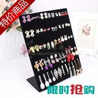pop up display L earrings frame black velvet earring rack accessories jewelry holder display rack storage rack plaid pavans