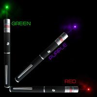 3pcs 5mW 532NM Universal Powerful 532nm Green Laser Pointer Pen Combo 405nm Purple/blue Violet laser pointer  red laser pen