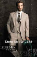 top well sell new style custom made cheap Groomsmen dress/free shipping/champagne Notch Lapel wedding Groom Tuxedos/Men's suits