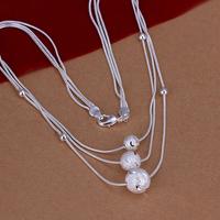 2013 christmas silver jewelry wholesale layered necklace, bead layered choker accept 1pc order free shipping LKNSPCN220