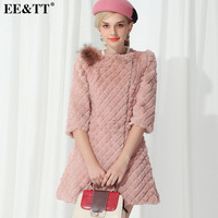 2013 women's winter coat fur rex rabbit hair fashion slim medium-long fur female