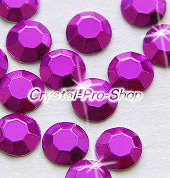 1440 pieces Purple 3mm 10ss ss10 Faceted Hotfix Rhinestuds Iron On Round Beads new Aluminum Metal Design Art (u3m-Purple-10 gr)