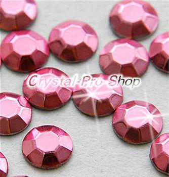 1440 pieces Light Pink 3mm 10ss ss10 Faceted Hotfix Rhinestuds Iron On Round Beads new Aluminum Metal Art (u3m-Lt Pink-10 gr)